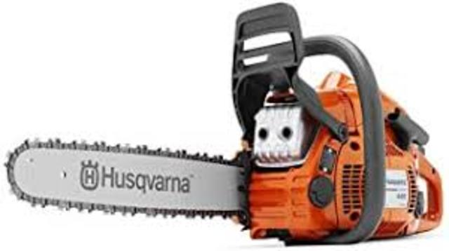 Ross Jonnes  'Husqvarna Chainsaw Updated', created in 2020, Original Assemblage.