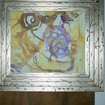 Abstract in siver frame By Reiner Poser
