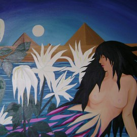 Cathy Dobson: 'Down By the Nile', 1979 Oil Painting, Sea Life. Artist Description:   In The Wild Collection. ...