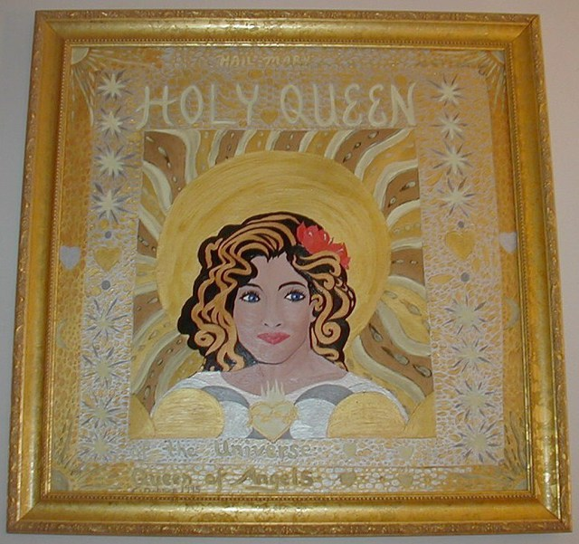 Cathy Dobson  'Holy Queen Of The Universe', created in 1995, Original Painting Oil.