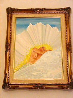 Cathy Dobson: 'Purity', 2001 Oil Painting, Sea Life. Original oil painting in a gold wooden frame. Mermaid Sea life artwork.Primed cotton canvas....