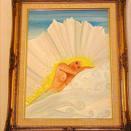 Cathy Dobson: 'Purity', 2001 Oil Painting, Sea Life. Artist Description: Original oil painting in a gold wooden frame. Mermaid Sea life artwork.Primed cotton canvas....