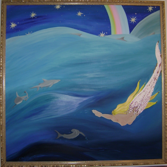 Cathy Dobson  'Rainbow 2', created in 1995, Original Painting Oil.