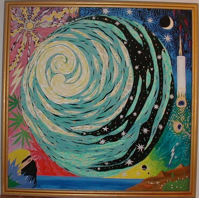 Cathy Dobson  'The Galaxy', created in 1993, Original Painting Oil.