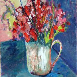 Roz Zinns: 'A Splash of Red', 2005 Acrylic Painting, Floral. Artist Description: A cheery bouquet to brighten your day...
