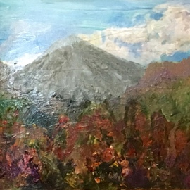 Roz Zinns: 'Arenal Volcano', 2016 Acrylic Painting, nature. Artist Description:  Arenal Volcano in Costa Rica         ...