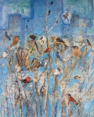 Roz Zinns Artwork Bird Songs, 2013 Bird Songs, Birds