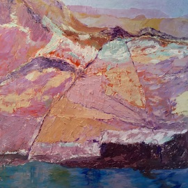 Roz Zinns: 'Endless Canyons', 2016 Acrylic Painting, nature. Artist Description:  Lake Powell          ...