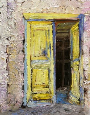 Roz Zinns: 'Greek Doorway', 2011 Oil Painting, Religious.  Doorway of Greek church from 1600's ...