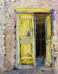 Artist: Roz Zinns, title: Greek Doorway, 2011, Painting Oil