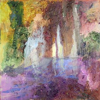 Roz Zinns: 'Grotto 2', 2010 Acrylic Painting, Landscape.  Where water carves into mountain ...