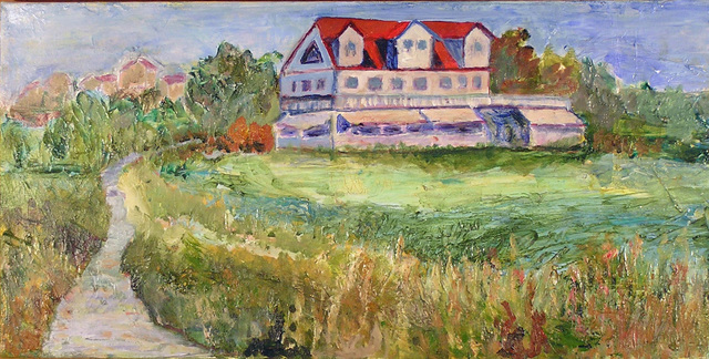 Roz Zinns  'House In The Meadow', created in 2010, Original Collage.