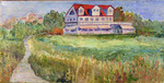 Artist: Roz Zinns, title: House in the Meadow, 2010, Painting Acrylic