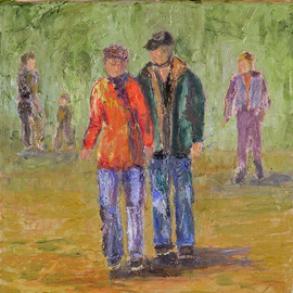 Roz Zinns: 'Jorey and Mark', 2010 Oil Painting, People. Artist Description:    Family          ...