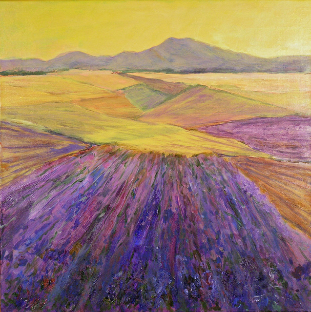 Artist Roz Zinns. 'Lavender' Artwork Image, Created in 2010, Original Collage. #art #artist
