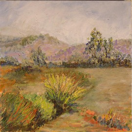 Roz Zinns Artwork Morning Vista, 2006 Acrylic Painting, Landscape