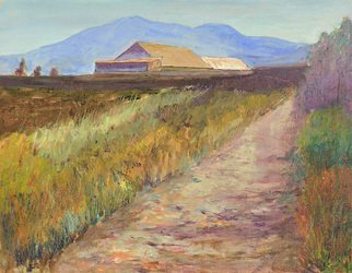 Roz Zinns: 'Near 680', 2010 Oil Painting, Landscape.  Near San Francisco Bay ...