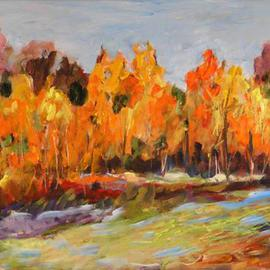 Peartrees in Autumn  By Roz Zinns