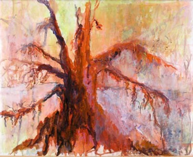 Artist Roz Zinns. 'Spirit Tree' Artwork Image, Created in 2007, Original Collage. #art #artist