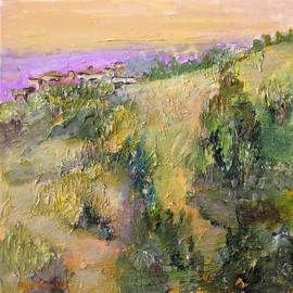 Roz Zinns Artwork Summit House, 2008 Acrylic Painting, Landscape