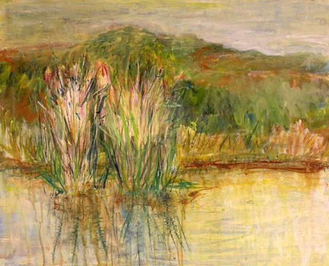 Roz Zinns  'Wetland Reeds', created in 2006, Original Collage.