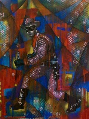 Rricardo Garcia Artwork Lonely Ranger, 2015 Lonely Ranger, Abstract Figurative