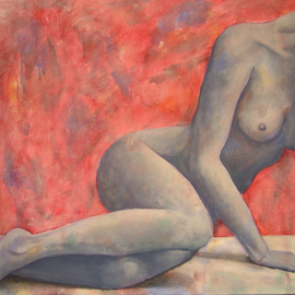 Rute Santos Artwork In regret, 2007 Acrylic Painting, Nudes