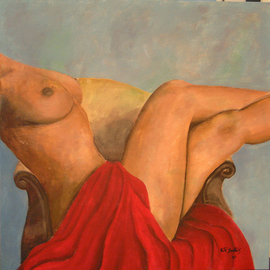 Rute Santos: 'Latin Woman', 2007 Acrylic Painting, Nudes. Artist Description:  Latin Woman ...
