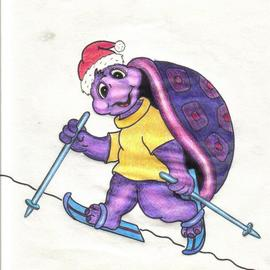Reinhardt Hollstein Artwork Christmas Turtle, 2005 Pencil Drawing, Family