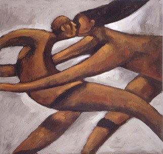 Alberto Ruggieri: 'embrace', 2000 Acrylic Painting, Figurative. square, psiche, material, lovers, couple , love...