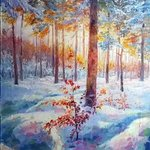 paints of winter By Elena Zorina