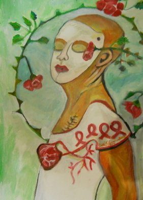Ruth Olivar Millan: 'After Breast Cancer', 2012 Acrylic Painting, Impressionism.    Brillant acrylic color in an international perspective in the style of the great muralists.  ...
