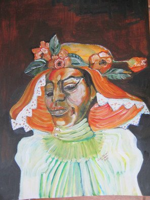 Acrylic Painting by Ruth Olivar Millan titled: Harriet Tubman, created in 2014