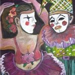 I AM NOT WHO YOU THINK Clown By Ruth Olivar Millan