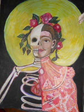 Acrylic Painting by Ruth Olivar Millan titled: Life and Death Llorona, created in 2014