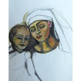 Madona and Child  By Ruth Olivar Millan