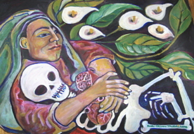 Artist Ruth Olivar Millan. 'WAR NO MORE A Mothers Cry' Artwork Image, Created in 2009, Original Painting Acrylic. #art #artist