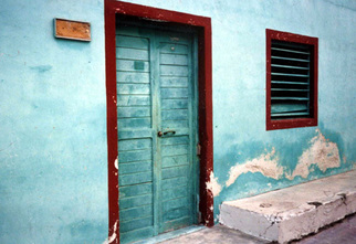 Ruth Zachary: 'Aqua Mexicana', 1998 Color Photograph, Travel.  Isla Mujeres, off the coast of Cancun, Yucatan, Mexico.  Colorful old aqua/ turquois wall, nice textures, contrasts and shapes.  11 x 14