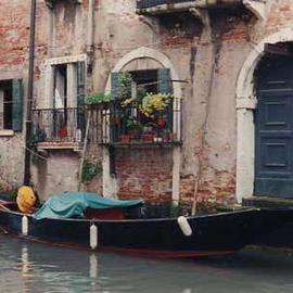 Ruth Zachary: 'Canal Around The Corner', 1997 Color Photograph, Travel. Artist Description: A quiet canal in Venice, Italy,  far away from the tourists on a quiet afternoon.  A graceful gondola sits peacefully in front of an antique home, shutters, wrought iron trim, flowers, perhaps centuries of secrets. Perfect Venice scene.  Limited edition, signed and numbered.  11 x 14 image in ...