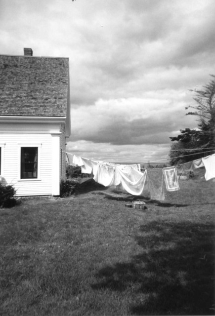Ruth Zachary  'Laundry Day Rain Coming', created in 2012, Original Photography Black and White.