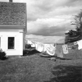 Ruth Zachary Artwork Laundry Day Rain Coming, 2012 Black and White Photograph, Landscape