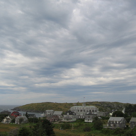 Monhegan Village Clouds By Ruth Zachary