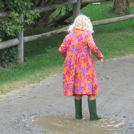 Ruth Zachary Artwork Puddle Girl, 2012 Color Photograph, Children