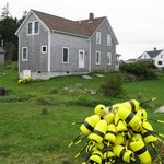 Yellow Lobster Buoys By Ruth Zachary