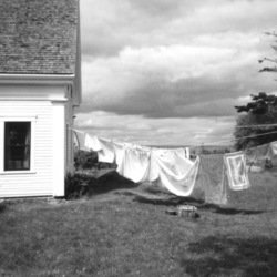 , Laundry Day Rain Coming, Landscape, $63