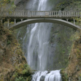 Ralph Andrea: 'Multnomah Falls Panoramic', 2005 Color Photograph, Landscape. Artist Description: Columbia River Gorge, Oregon, USA.Plummeting 620 feet, the Multnomah Falls is the crown jewel of the Columbia River Gorge. This image is a seamless hand composited panoramic incorporating eight separate high- resolution images. The eight horizontal ( landscape) images were shot with a Nikon D2x professional digital camera ...