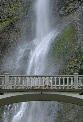 Ralph Andrea: 'Multnomah Falls Panoramic Detail 1', 2005 Color Photograph, Landscape. Columbia River Gorge, Oregon, USA.Plummeting 620 feet, the Multnomah Falls is the crown jewel of the Columbia River Gorge. This image is a seamless hand composited panoramic incorporating eight separate high- resolution images. The eight horizontal ( landscape) images were shot with a Nikon D2x professional digital camera at f16, ...