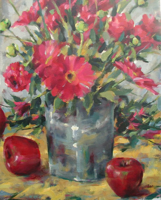 Richard Wieth  'Fresh Crimson Oil', created in 2017, Original Painting Oil.