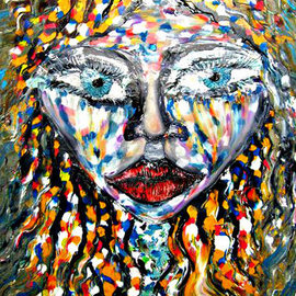 Ryan Ilinca: 'the girl', 2010 Acrylic Painting, People. Artist Description: Original artwork using a special technique. Acrylics and spatula in this original style called Octavianism. ...