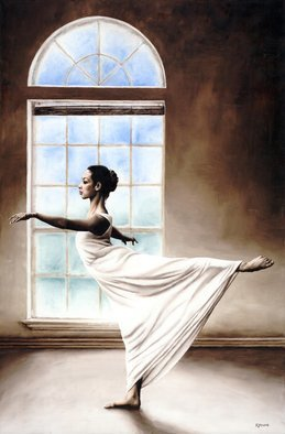 Richard Young: 'divine grace', 2009 Oil Painting, Dance. Artist Description: Fine art oil painting on canvas, created entirely using a knife...